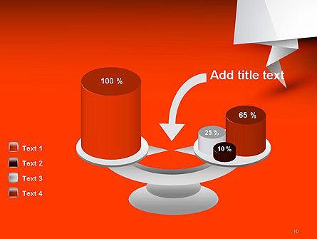 Folded Speech Bubble PowerPoint Template Slide 10