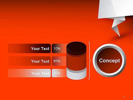 Folded Speech Bubble PowerPoint Template Slide 11