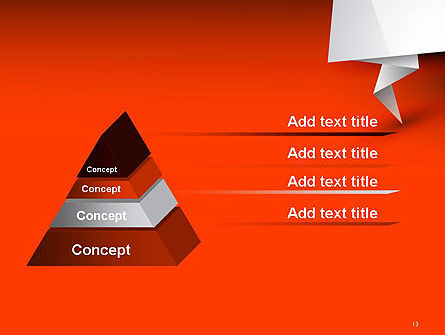 Folded Speech Bubble PowerPoint Template Slide 12