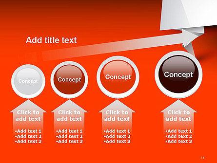 Folded Speech Bubble PowerPoint Template Slide 13