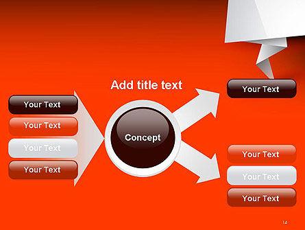 Folded Speech Bubble PowerPoint Template Slide 14