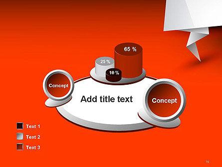 Folded Speech Bubble PowerPoint Template Slide 16