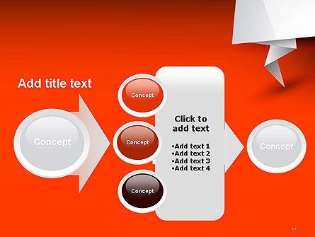 Folded Speech Bubble PowerPoint Template Slide 17