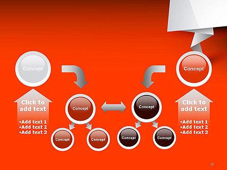 Folded Speech Bubble PowerPoint Template Slide 19