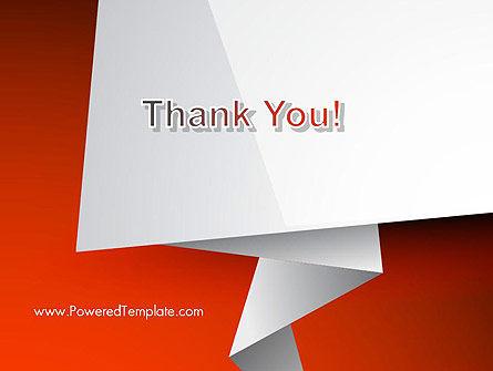 Folded Speech Bubble PowerPoint Template Slide 20