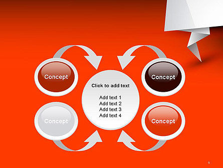 Folded Speech Bubble PowerPoint Template Slide 6