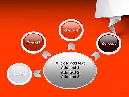 Folded Speech Bubble PowerPoint Template Slide 7