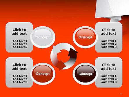 Folded Speech Bubble PowerPoint Template Slide 9
