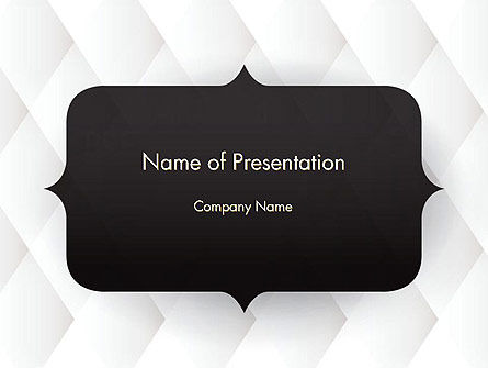 Frame for Text PowerPoint Template, 14551, 3D — PoweredTemplate.com