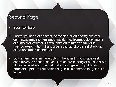 Frame for Text PowerPoint Template, Slide 2, 14551, 3D — PoweredTemplate.com
