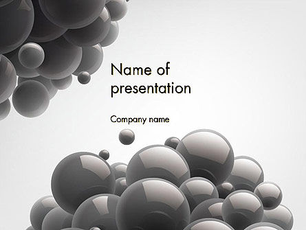 Glossy Gray Bubbles PowerPoint Template, 14553, Abstract/Textures — PoweredTemplate.com