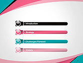 Abstract Background with Curve Line Pattern PowerPoint Template#3