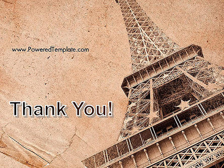 Eiffel Tower Vintage Postcard Style PowerPoint Template Slide 20
