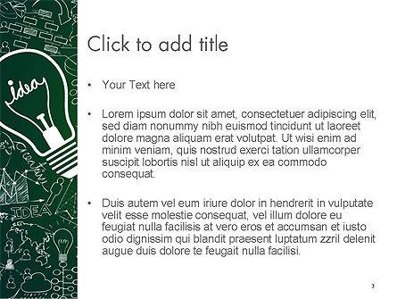 Idea Doodles PowerPoint Template, Slide 3, 14559, Business Concepts — PoweredTemplate.com