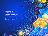Abstract/Textures: Vivid Colorful Abstract Background PowerPoint Template #14561