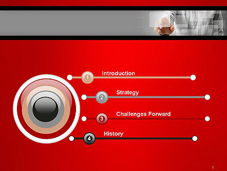 Hand Pushing Touch Screen Button PowerPoint Template, Slide 3, 14562, Technology and Science — PoweredTemplate.com