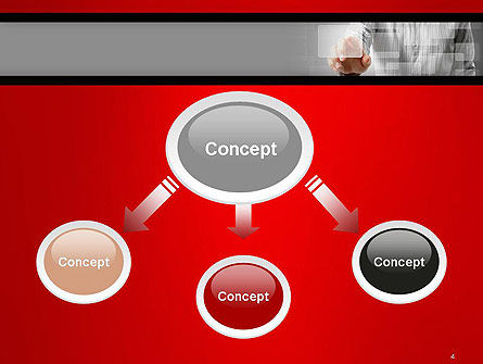 Hand Pushing Touch Screen Button PowerPoint Template, Slide 4, 14562, Technology and Science — PoweredTemplate.com