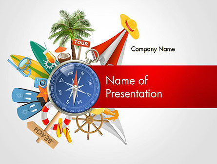 Summer Vacation Accessories PowerPoint Template, 14563, Holiday/Special Occasion — PoweredTemplate.com