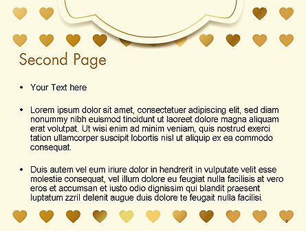 Metal Heart Confetti Pattern PowerPoint Template, Slide 2, 14564, Holiday/Special Occasion — PoweredTemplate.com