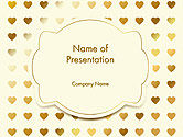 Holiday/Special Occasion: Metal Heart Confetti Pattern PowerPoint Template #14564
