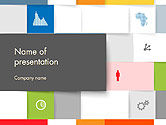 Squares Background PowerPoint Template#1