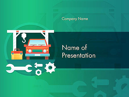 Car Repair Service PowerPoint Template, 14566, Cars and Transportation — PoweredTemplate.com