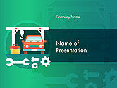 Cars and Transportation: Autowerkdienst PowerPoint Template #14566