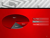 White Square Maze PowerPoint Template#14