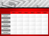 White Square Maze PowerPoint Template#15