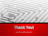 White Square Maze PowerPoint Template#20