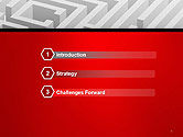 White Square Maze PowerPoint Template#3