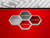 White Square Maze PowerPoint Template#5