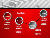 White Square Maze PowerPoint Template#6