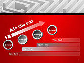 White Square Maze PowerPoint Template#9
