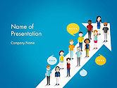 Careers/Industry: Modello PowerPoint - Diversi gruppi sociali di persone #14568