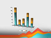Abstract Area Chart PowerPoint Template#17