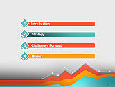 Abstract Area Chart PowerPoint Template#3