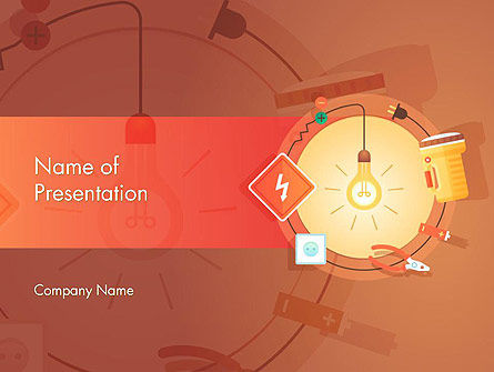 Home Electricity Services PowerPoint Template, 14571, Careers/Industry — PoweredTemplate.com