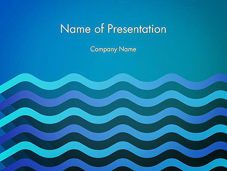 Wavy Background PowerPoint Template, 14572, Abstract/Textures — PoweredTemplate.com