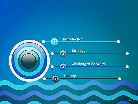 Wavy Background PowerPoint Template, Slide 3, 14572, Abstract/Textures — PoweredTemplate.com