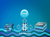 Wavy Background PowerPoint Template#19