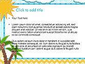 Children`s Photo Framework with Giraffe PowerPoint Template#2