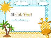 Children`s Photo Framework with Giraffe PowerPoint Template#20