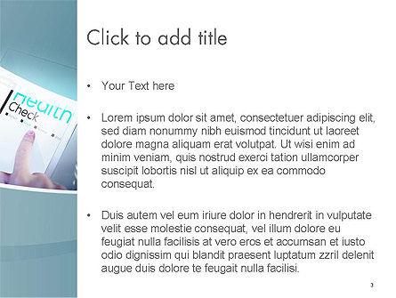 Health Check Diagnosis Concept PowerPoint Template, Slide 3, 14574, Business Concepts — PoweredTemplate.com