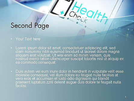 Health Check Diagnosis Concept PowerPoint Template, Slide 2, 14574, Business Concepts — PoweredTemplate.com