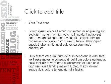 CMS Word Cloud PowerPoint Template, Slide 3, 14576, Technology and Science — PoweredTemplate.com