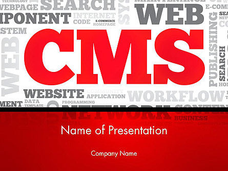 Technology and Science: CMS Word Cloud PowerPoint Template #14576