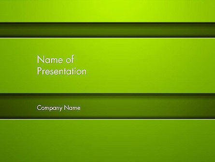 Horizontal Green Background with Lines PowerPoint Template
