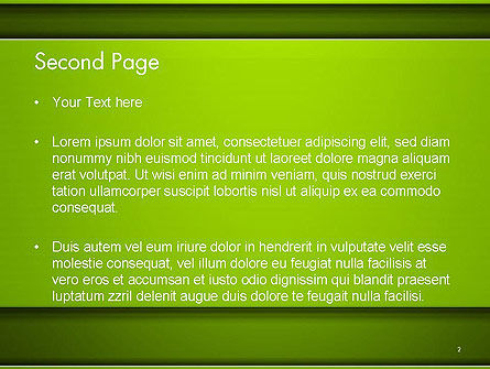 Horizontal Green Background with Lines PowerPoint Template Slide 2
