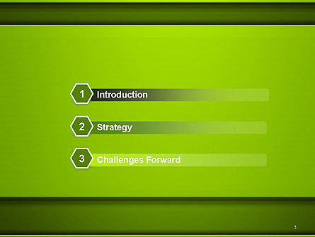 Horizontal Green Background with Lines PowerPoint Template Slide 3